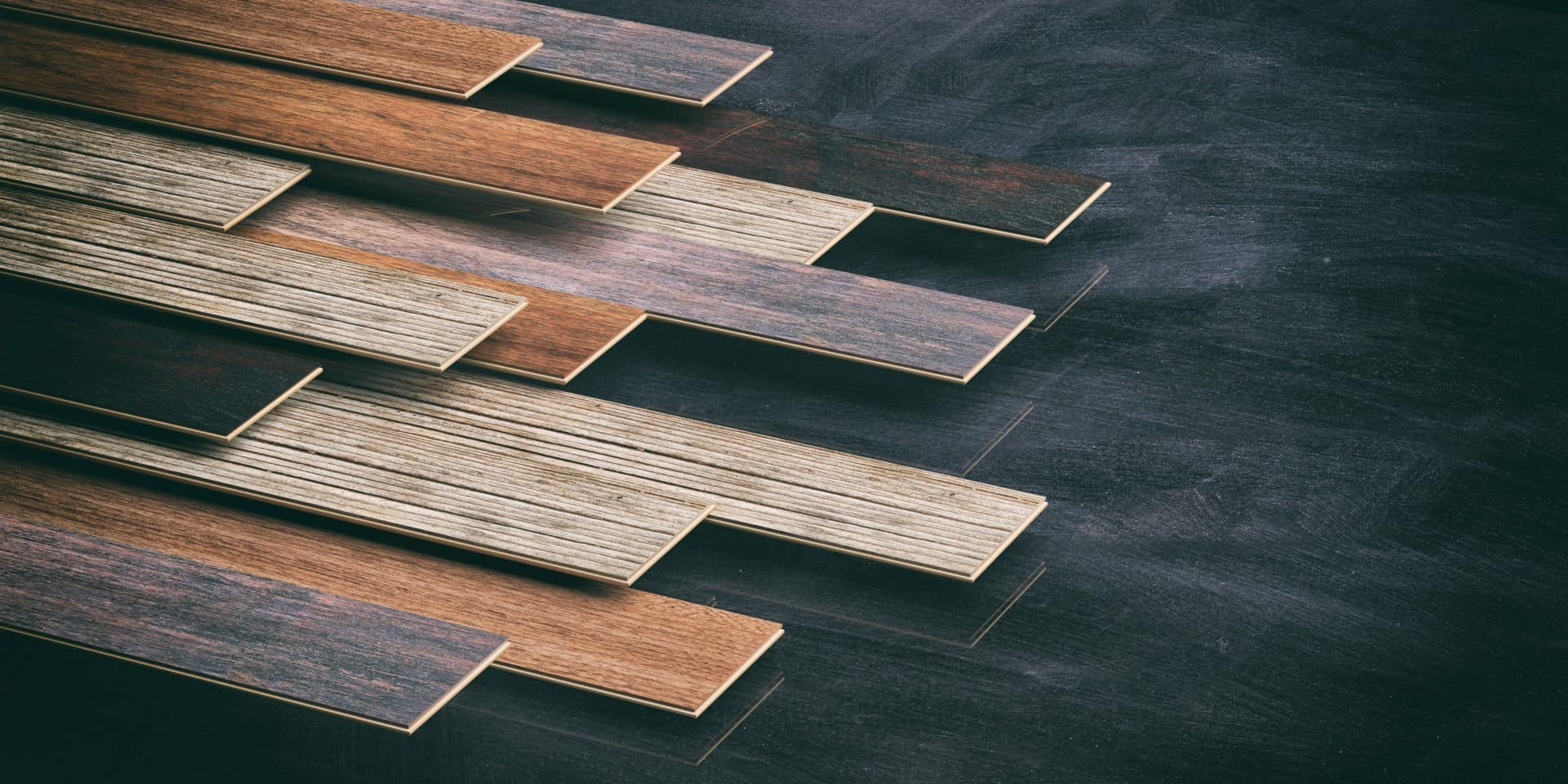 Examples of commercial laminate flooring samples
